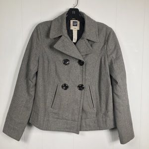 Gap Girl's Grey Double Breasted Peacoat Small